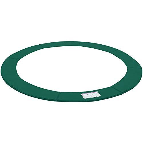 SONGMICS Red de Protección de Trampolín, 305cm, Cubierta de Resorte, Resistente a los Rayos UV, Protección de Bordes Resistente a los Desgarros, Tamaño Estándar, Verde STP10GN