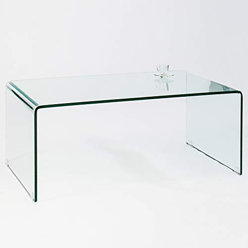 Invicta Interior Glas Couchtisch FANTOME 110 cm transparent Glastisch Beistelltisch Wohnzimmertisch
