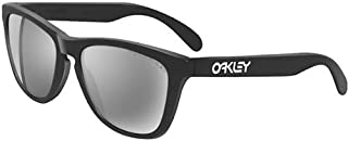 27dd1b97df Oakley Frogskins Sunglasses - Oakley Men s Polarized Lifestyle Authentic  Eyewear - Matte Black Black Iridium