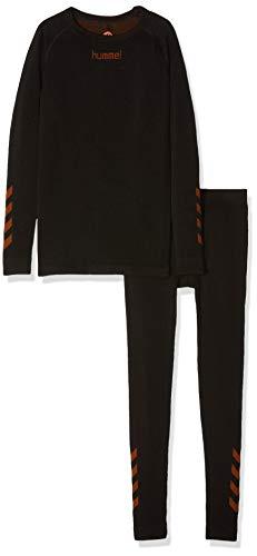hummel Kinder Court Trophy Comfort Anzug, Black/Oriole, 116/128