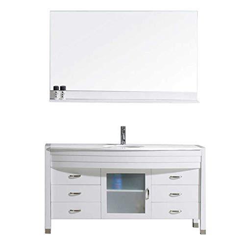 Virtu USA Ava Bathroom Vanity, 55 inches, White