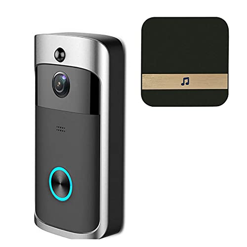 DNAMAZ Portero Smart IP Video Intercom Wi-Fi Video Door Putton Bell WiFi Doorbell Cámara para Apartamentos Alarma IR Cámara de Seguridad inalámbrica automatico (Color : A Set3)