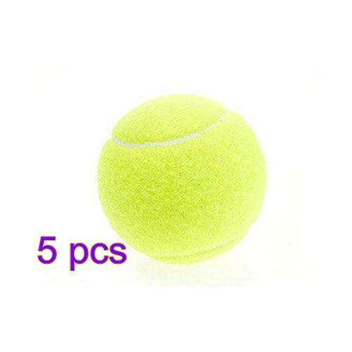 dylandy Tennis Ball hohe Elastizität Profi Training Sport PLAY CRICKET Ball Hundespielzeug Tennisbälle für Hunde Kinder (gelb), 5 Stück, 5 Stück