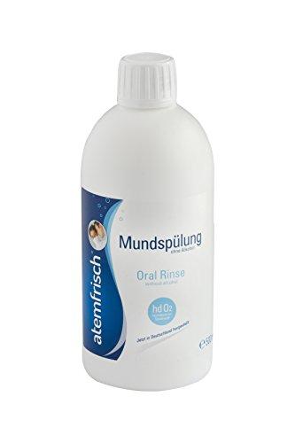 Gegen Mundgeruch mit Atemfrisch Mundspülung mit hochdosiertem Sauerstoff (hdO2), 1er Pack (1 x 500 ml)