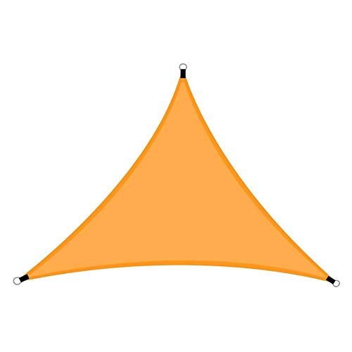 DXQDXQ Outdoor 3/4/6m Optional Sun Shade Sail Triangle with Rope and Storage Bag Outdoor Waterproof UV Block Garden Patio Yard Lawn Sunscreen Awning Canopy Sun Sail Anti-UV (Color : Orange-3 * 3)