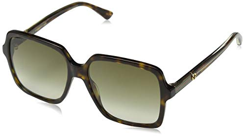 Gucci GG0375S-002 Gafas de sol, Havana Oscuro/Brillo, 56 para Mujer