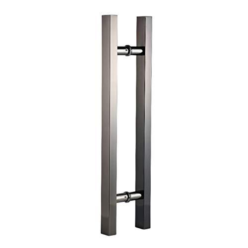 CFYP Tirador de Escalera de Forma Cuadrada/Tirador de Puerta de Acero Inoxidable para Entrada/Ducha/Madera/Vidrio/Oficina/Tienda/Tienda, Interior/Exterior