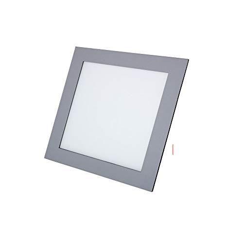 LED Downlight cuadrado plata 12W Blanco frio 6000K 1020lm 220V-240v