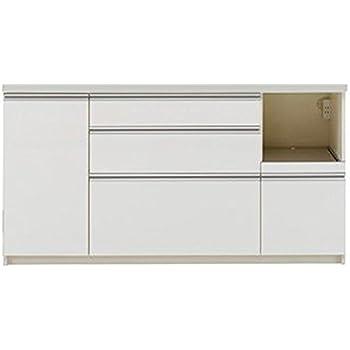 パモウナ 食器棚WL パールホワイト 幅160×高さ85×奥行50 日本製 WLR-1600R下台