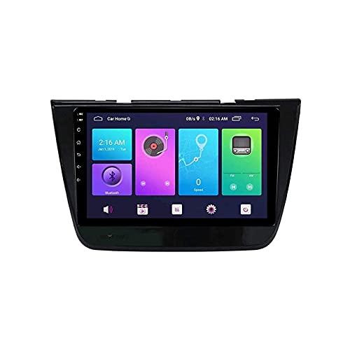 Radio de automóvil Unidad de cabeza estéreo para MG ZS 2017-2019 GPS Navegación FM AM Receptor 1080p Video Pantalla táctil SAT NAV Multimedia Player Bluetooth Mirror Link SWC WIFI USB, 8 núcleo 4g + W