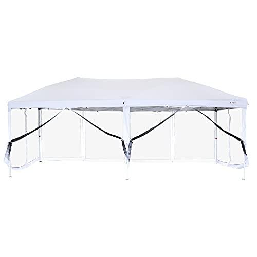 VINGLI 10x20ft Easy Pop Up Canopy Tent w/ 6...