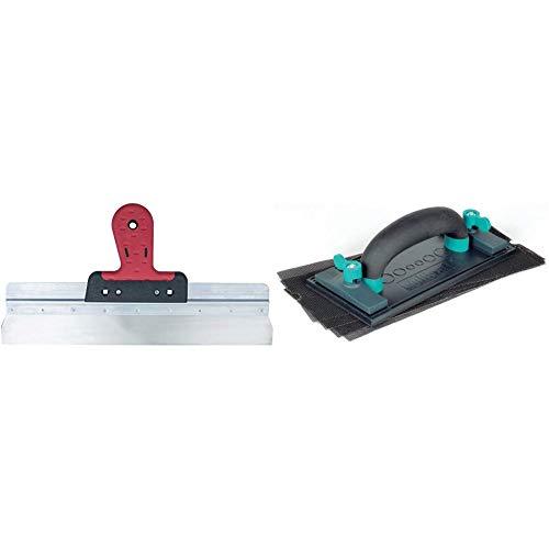 Connex COX885440 Flächenspachtel, rostfrei, Softgriff, Breite 400 mm, farblich sortiert & Wolfcraft 8722000 Rigips-Set