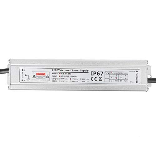 SEAFRONT Fuente de alimentación LED de 24V, AC100~264V a DC 24V 30W 0.8A IP67 Transformador de Controlador de Tira de luz LED a Prueba de Agua