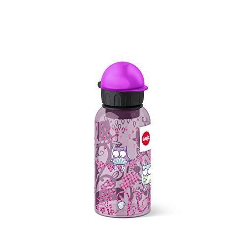 Emsa Kinder-Trinkflasche, 400 ml, Sicherheitsverschluss, Kids Owl, Tritan, 518128