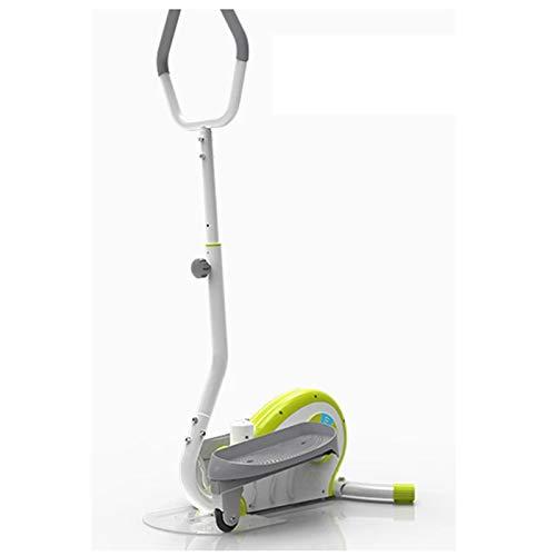 Yamyannie Máquina de Entrenamiento Elíptica Equipo de Aptitud de la máquina de pérdida de Peso Bicicletas Estáticas (Color : Verde, Size : OneSize)