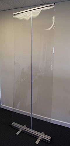 Roll Up Trasparente 100x200 cm - Barriera Protettiva - Parasputi Separatore - Pannello di Protezione Trasparente per Farmacie, Uffici, Negozi e Supermercati