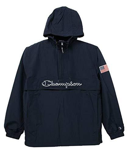 [チャンピオン] アノラックジャケット パーカー ハーフジップ スクリプトロゴ刺繍 C3-L609 メンズ ネイビー S