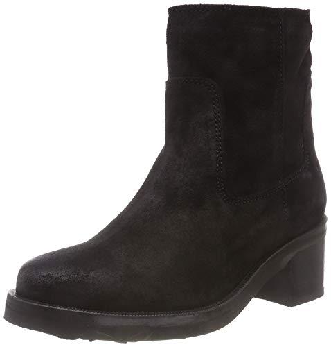 Hilfiger Denim Damen Essential Suede Biker Boots, Schwarz (Black 990), 39 EU
