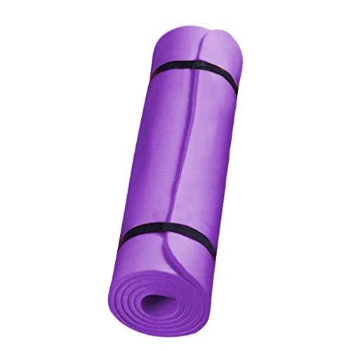 HE5&BE20 Esterilla antideslizante para yoga, esterilla de ejercicio, 183 x 60 x 0,4 cm, utilizada para ejercicios de piso, gimnasio, yoga, pilates fitness (púrpura)
