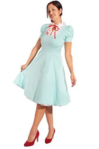 SugarShock Damen Retro Kirschen Petticoatkleid 165564269 Mint L