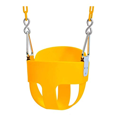 Q-L Baby Swing Opknoping Mand Tehuis For Kinderen Met Een Multi-functionele Entertainment Speelgoed Keten (Color : Yellow)