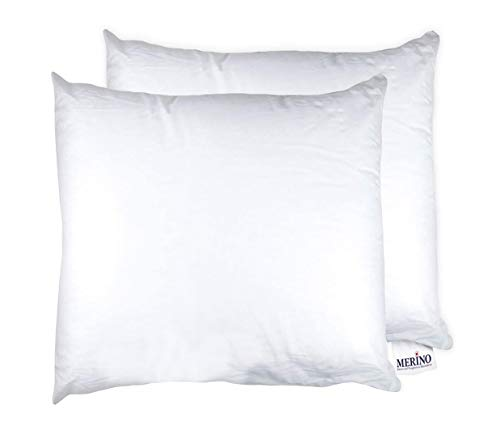 MERINO BETTEN Premium Kopfkissen 20x20 Set | Couchkissen | Kissenhülle ohne Reißverschluss | Serie Standard