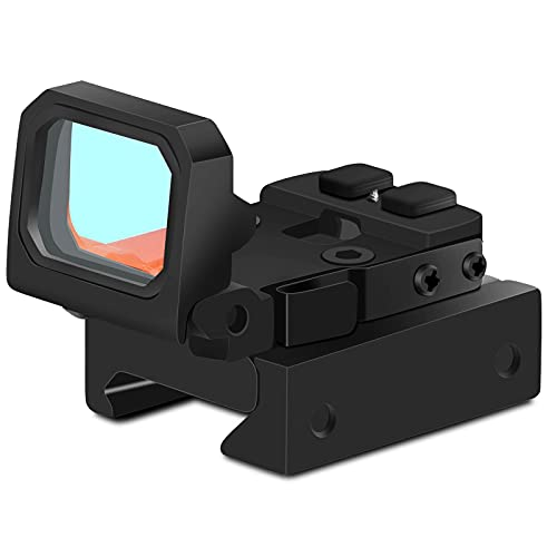 Mini Red Dot Compact RMR Flip Red Dot Reflex Sight Compact Reflex Sight for Glock Mounts and Slides (Black)