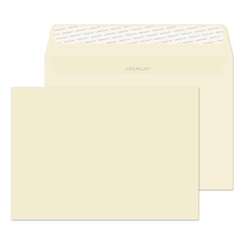 Premium Business 61455 Briefumschläge Haftklebung Creme Wove C5 162 x 229 mm 120 g/m² | 50 Stück