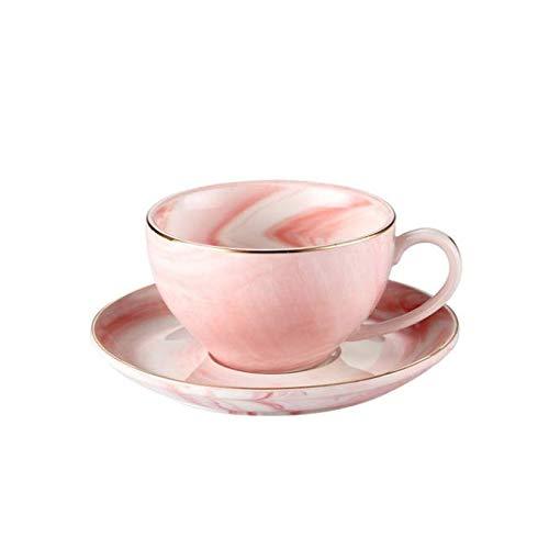 FEJK Marmor Keramik Tasse Untertasse Set 125ml Kaffeetassen Frühstücksmilch Teetasse Porzellan Keramik Tasse Hause Nachmittagstee