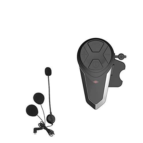 SDFD 1 intercomunicador de Casco Bluetooth con FM, Auriculares a Prueba de Agua 1000 m, Motocicleta Bluetooth Casco Intercomunicador Altavoces de Casco (Color : 1pc for Open Helmet)