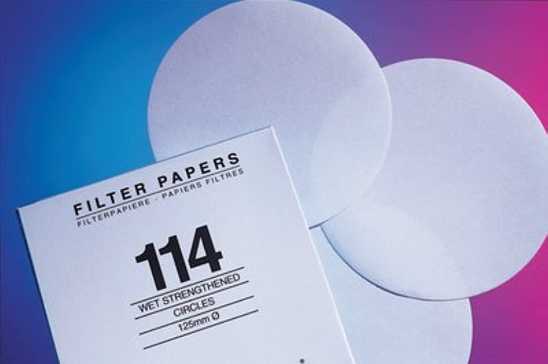 Whatman 1093-935 Quantitative Filter Paper Sheet, 10 Micron, 7 s/100mL/in Flow Rate, Grade 93, 610mm Length x 610mm Width (Pack of 500)