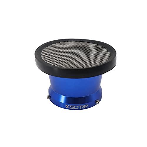 Filtro de aire de la motocicleta 50 mm 55 mm Limpiador Limpiador de abrazadera de aire Filtros de admisión de aire con accesorios de moto de malla (Color : H45-74mm blue)