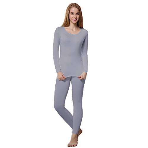 HEROBIKER Thermal Underwear Women Ultra-Soft Set Base Layer Top & Bottom Long Johns with Fleece Lined Lavender