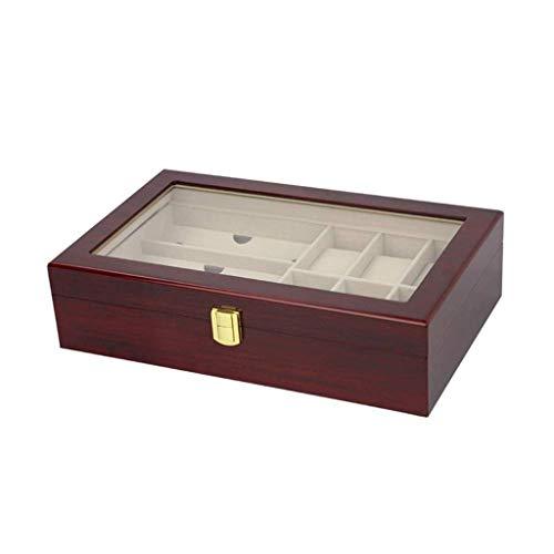 SHUMEISHOUT Caja de Almacenamiento - Reloj Caja de Almacenamiento Regalo Embalaje Joyería Estudio de Madera Caja de exhibición Exquisito Reloj Recolección Caja