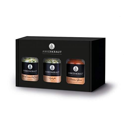 Ankerkraut Geschenkset Dips, Geschenk-Box mit 3 Gewürzen für Dips im Korkenglas