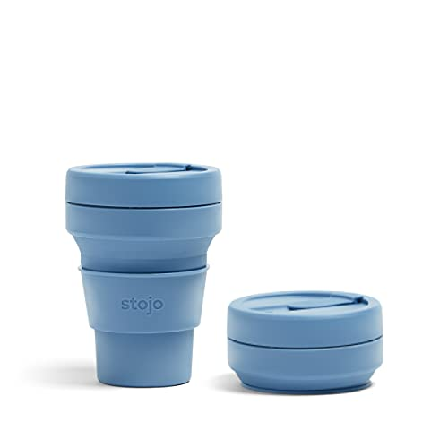Stojo On The Go Collapsible Coffee Cup | Pocket Size Collapsible Silicone...