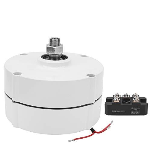 Fafeicy AVAN-400w Generador de imán permanente, alternador de AC trifásico eléctrico NdFeB de tierras raras, 400w 550r/m, clase de aislamiento F(12V with Rectifier)