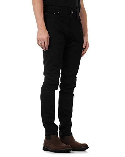 NUDIE JEANS Lean Dean Jeans, Dry Ever Black, 30 W/30 L Unisex-Adulto
