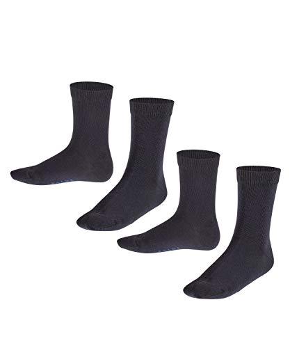 FALKE Unisex Kinder Happy 2-pack Socken, Blau (Dark Navy/Dark Navy 30), 9-12 Jahre EU