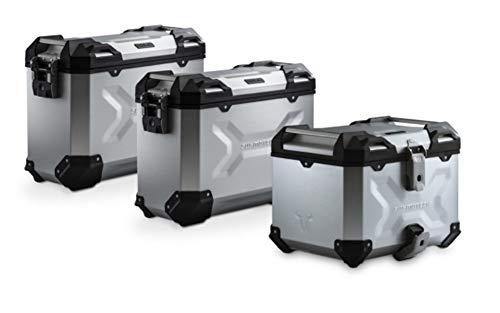 SW-Motech TRAX ADV Adventure Premium Aluminium Kofferset inkl. Topcase und Träger für Suzuki V-Strom 1000 schwarz