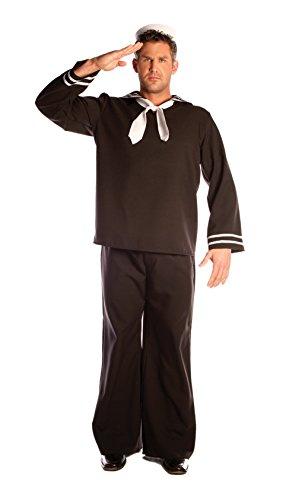 Seemann Kostüm, schwarz - M-L