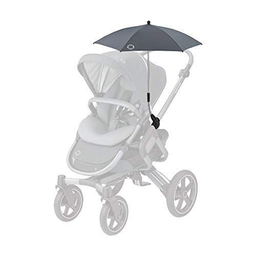 Maxi-Cosi Parasol, Stylischer und Praktischer Sonnenschirm für alle Maxi-Cosi Kinderwagen und Viele Mehr, mit UV-Lichtschutz 40+ inkl. Univsersal-Befestigung, Essential Graphite (grau)