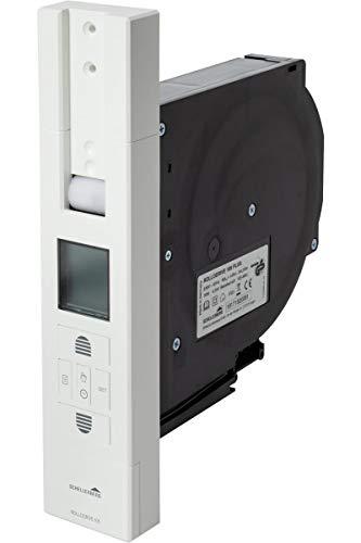 Schellenberg 22711 Elektrischer Gurtwickler Unterputz RolloDrive 105 Plus Rolladenantrieb bis 10 m² Rollladenfläche, Zugkraft max. 60 kg, mit Display, Zeit- und Astrofunktion, inkl. Netzstecker