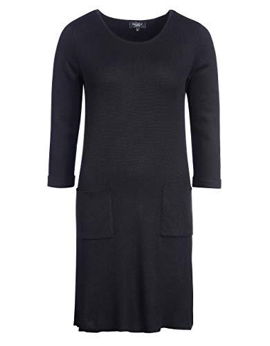 Bexleys Woman by Adler Mode Damen Strickkleid schwarz L