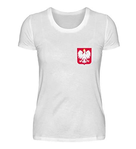 Hochwertiges Damenshirt - Polen Trikot Emblem Wappen Polnische Flagge Polska Adler Fahne Geschenk