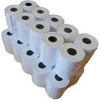 Juego de 20 rollos de papel térmico para datáfono y máquina de tiques