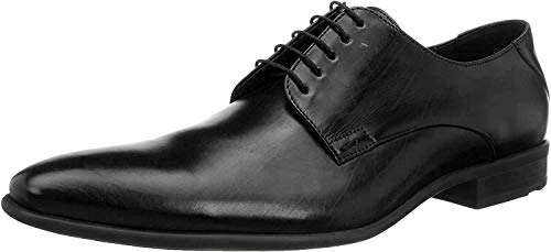 LLOYD Herenschoen NIK, klassieke zakelijke lage schoen van leer met rubberen zool, zwart zwart 0, 41 EU