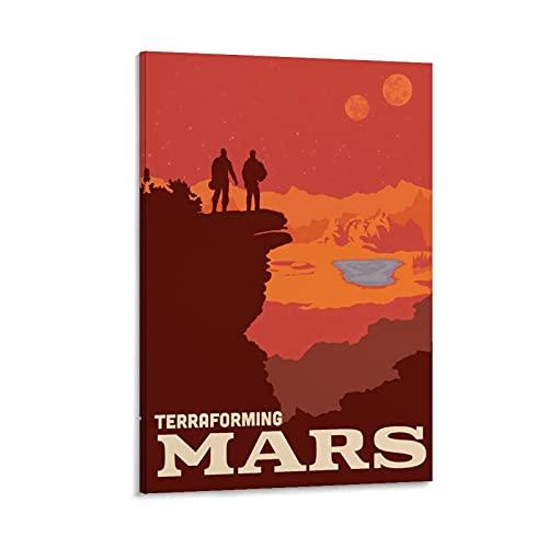 WEILEI Terraforming Mars - Póster de lienzo y pared con impresión moderna para dormitorio familiar (50 x 75 cm)