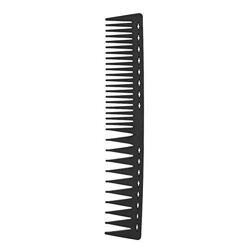 Peigne à cheveux anti-statique résistant à la chaleur, peigne de coiffeur à double face pour tous les types de cheveux Peigne à dents fines et larges pour hommes et femmes(peigne)