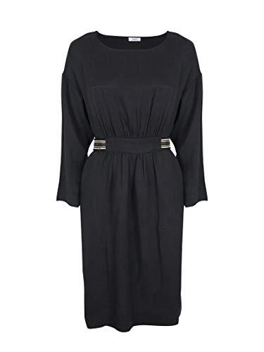 Closed Reeve Kleid schwarz mit dekoriertem Gürtel
